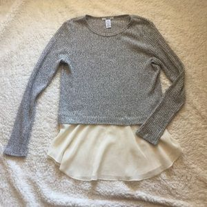 Bar lll tiered flow hem sweater